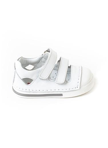 minipicco Minipicco Unısex Beyaz Deri Ortopedik Destekli İlk Adım Ayakkabı Beyaz